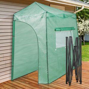 EAGLE PEAK Portable Lean to Walk-in Greenhouse