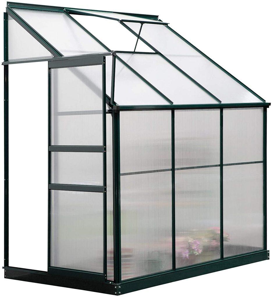 Outsunny Walk-in Garden Aluminum Polycarbonate Greenhouse